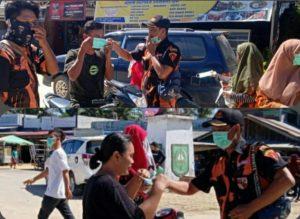 Pemuda Pancasila Ranting Mahato Bandar Selamat KM 24 Bagikan Masker Secara Cuma-Cuma