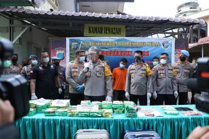 Kapolda Sumut Pimpin Press Release, Pengungkapan Narkotika Jenis Sabu Serat 30 Kg Oleh Polrestabes Medan
