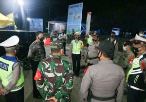 Dir Lantas Polda Sumut Pantau Langsung 7 Pos Penyekatan di Wilayah Perbatasan Provinsi Sumatera Utara