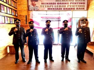 Pejabat Utama Polres Simalungun Ikuti Upacara Peringatan Hari Lahir Pancasila, Secara Virtual Reality