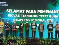 Bupati Lampung Timur Menerima Penghargaan Gelar Teknologi Tepat Guna Nasional XXII tahun 2021