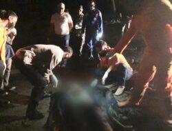 Inafis Polres Tanggamus dan Polsek Pematang Sawa Identifikasi Temuan Mayat di Pantai Guring