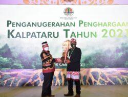 Bupati Lampung Timur Dampingi Penerima Penghargaan Kalpatura Tahun 2021