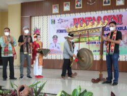 Bupati Lampung Timur Tutup Acara Gerakan Seniman Masuk Sekolah