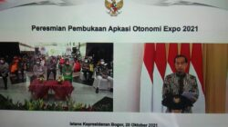 Bupati Tanggamus Hadiri Pembukaan Apkasi Otonomi Expo 2021 di Istana Bogor