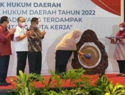 Bupati Zahir Hadiri Rakornas Perencanaan Produk Hukum Daerah Tahun 2022