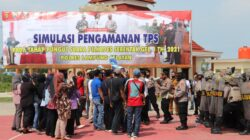 Polres Lampung Selatan Gelar Simulasi PAM-TPS Pilkades Serentak 2021