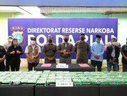 Sabu Internasioal, 81 Kg Disita, Kapolda Riau : Kita Tidak Akan Berhenti Kejar Para Pelaku Narkoba